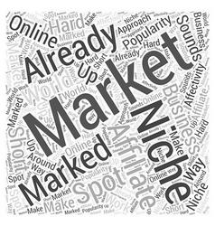 Niche affiliate marketing Word Cloud Concept vector