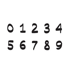 Numbers hand drawn set icon vector image vector image