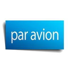 Par avion blue paper sign on white background vector