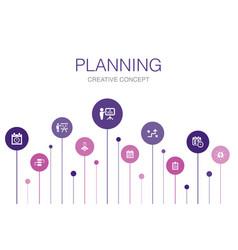 Planning infographic 10 steps templatecalendar vector
