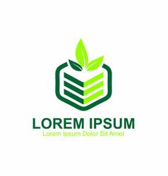 planting logo vector image