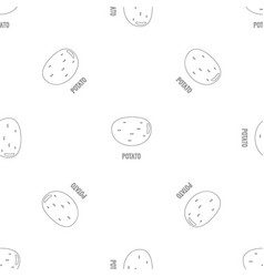 potato pattern seamless vector image