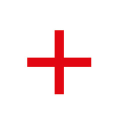 red bright plus volumetric mathematical symbol vector image