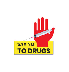 Say no to drugs that are isolated with medical vector