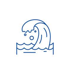 sea wave line icon concept sea wave flat vector image