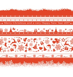 Seamless Christmas borders vector