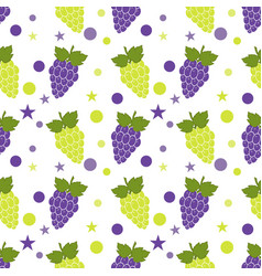 seamless pattern with red and green grapes for vector image