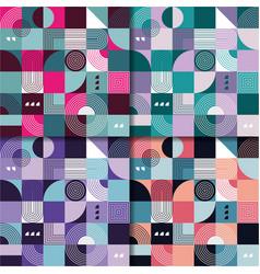 seamless retro pattern design template set vector image