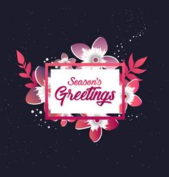 seasons greeting template beautiful origami vector image