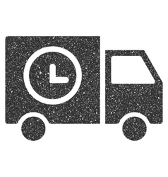 Shipment Schedule Van Icon Rubber Stamp vector