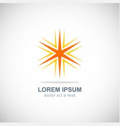 star shape bright logo vector image