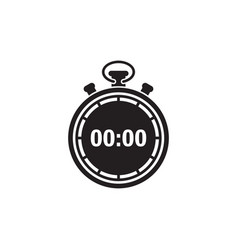 Stopwatch icon design template isolated vector