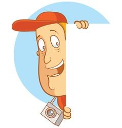 tourist logo peek side vector image