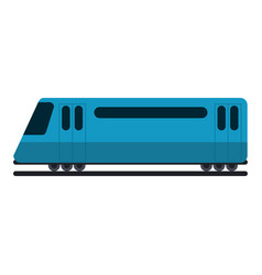 Train on rails sideview vector