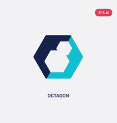 Two color octagon icon from geometry concept vector