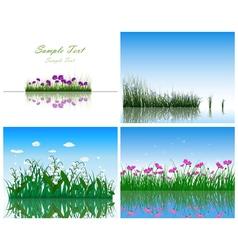 Water grass vector