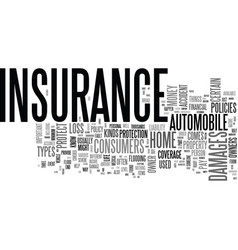 Why is insurance important text word cloud concept vector