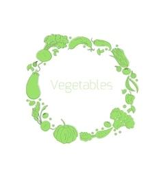 Wreath vegetables circle vector