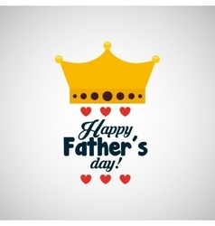 celebration happy fathers day lettering vector image vector image