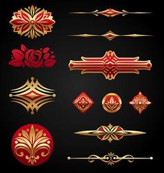golden design elements vector image vector image
