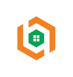 Hexagon windows logo vector