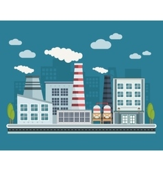 Manufacturing Buildings vector image