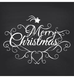Merry Christmas on blackboard background vector image vector image