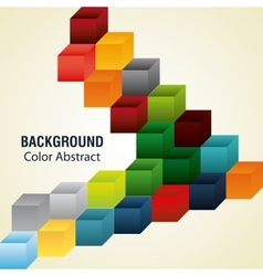 Multicolored cubes with abstract shapes vector image vector image