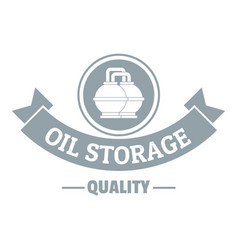 oil storage logo simple gray style vector image