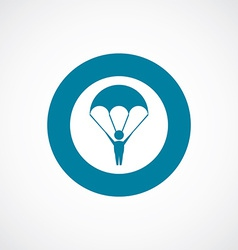parachutist icon bold blue circle border vector image