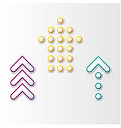 abstract arrows set vector image vector image
