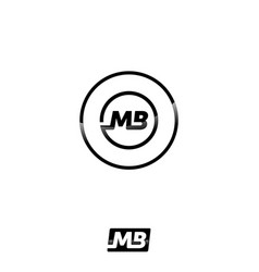 abstract mb letter icon concept design vector image vector image