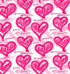Rough brush pink heats vector image