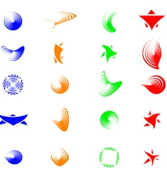 set of color abstract symbols for design - also as vector image vector image