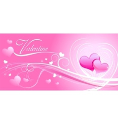 Valentine background wiht hearts vector image vector image