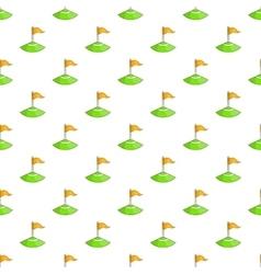 Corner flag on soccer field pattern cartoon style vector image vector image