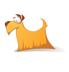 crazy yellow dog - funny cartoon characters vector image vector image
