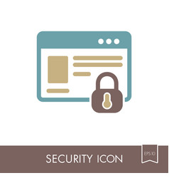internet protection icon information security vector image vector image