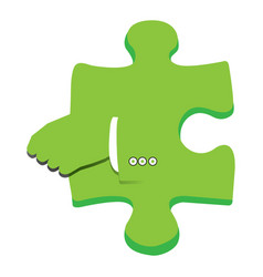 isolated puzzle piece vector image