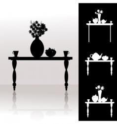 tea table vector image