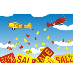 airplanes banners vector image vector image