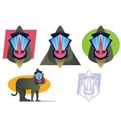 Baboon vector image vector image