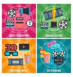 Cinema Industry Concept vector image vector image