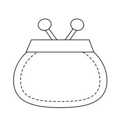 coin purse icon image vector image