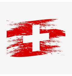color swiss national flag grunge style eps10 vector image vector image