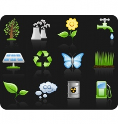 environment icons vector image vector image