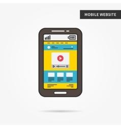 Mobile website vector image