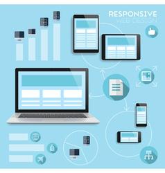 Responsive web-design infographics concept vector image