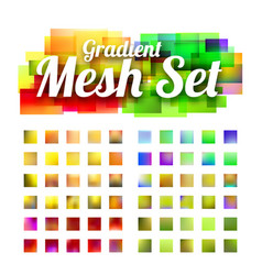 set of gradient meshes for your design vector image
