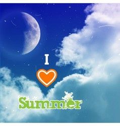 000 I love summer vector